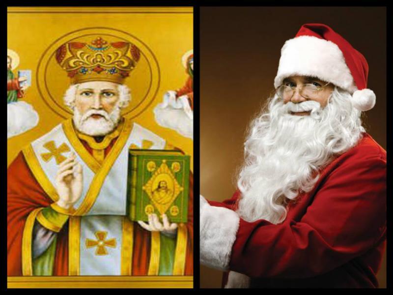 San Nicolás { nikolaus } o Santa claus