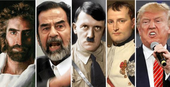 Incluyen a Jesucristo en lista de psicópatas junto a Nerón, Hitler y Trump