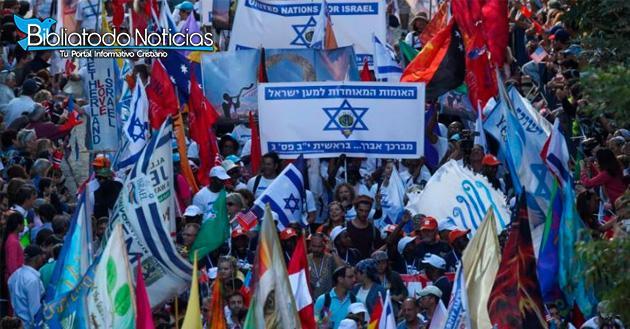 Miles de cristianos se reúnen en Jerusalén a celebrar Fiesta de los Tabernáculos