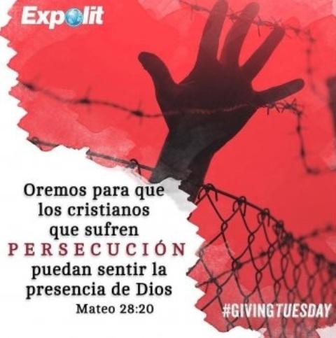 Expolit se une a #GivingTuesday para ayudar a iglesia perseguida