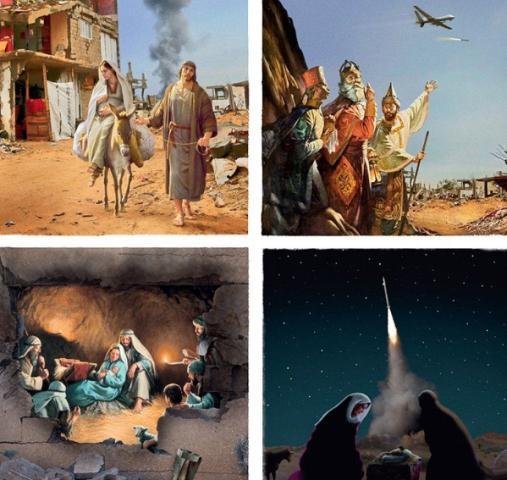 Campaña muestra cómo sería si Jesús naciera hoy en Navidad
