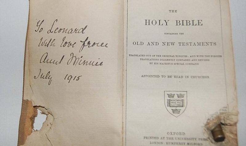 Biblia impidió que soldado fuese baleado en Primera Guerra Mundial