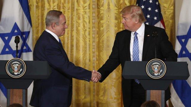 """Donald Trump promete """"gran acuerdo de paz"""" entre Israel y Palestina"""