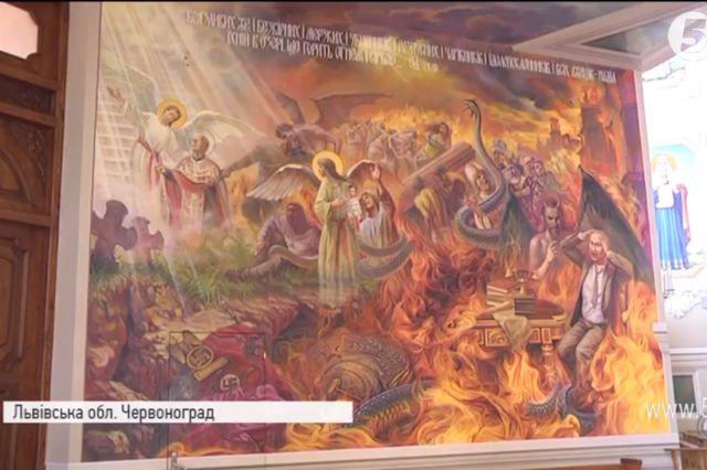 Iglesia católica pone Putin en el infierno, comparándolo con Hitler