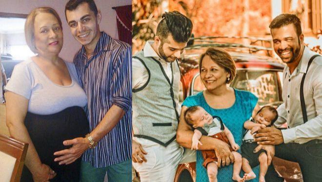 Una mujer de 58 años es madre y abuela de los mellizos de su hijo homosexual