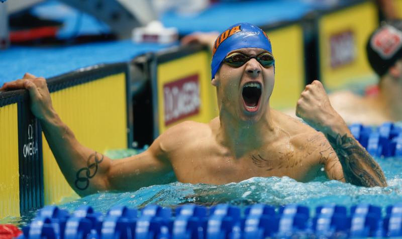 Nadador cristiano no le importa haber igualado récord de Michael Phelps