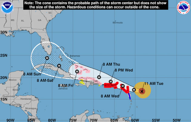 El huracán Irma pone en máxima alerta a las islas del Caribe y Florida