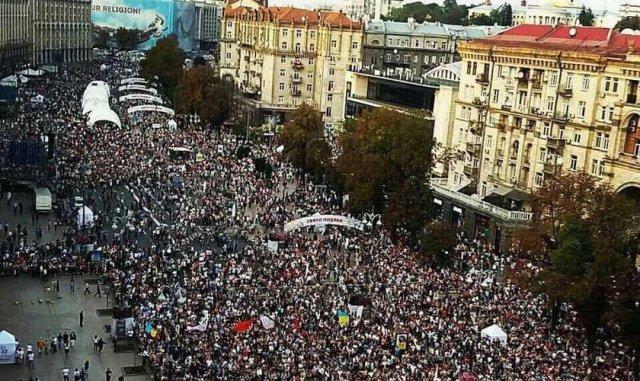 Medio millón de personas se reúnen en las calles de Ucrania para alabar a Dios