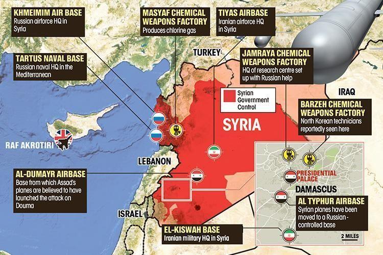 """Ataques a Siria alcanzaron """"objetivos estratégicos"""" en Damasco"""