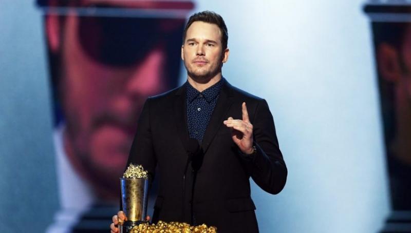 """Chris Pratt """"predica"""" sobre la sangre de Jesús en premios de MTV"""