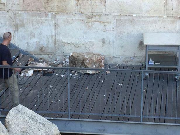 """Arqueólogo dice que todo el Muro de las Lamentaciones es """"zona de peligro"""""""