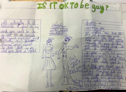 """Escuela hace que niños escriban """"cartas de amor LGBT"""""""